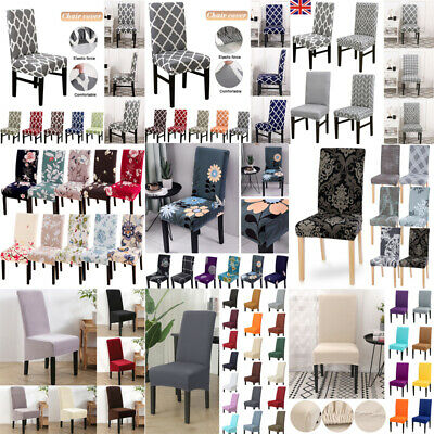 HOT Elastic Dining Chair Covers Slipcovers Kitchen Chair Protective Covers UK
