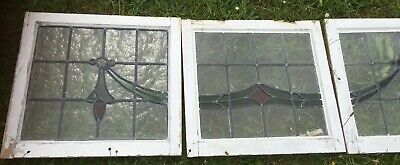 stained glass window panels X 5 1930 Art Deco