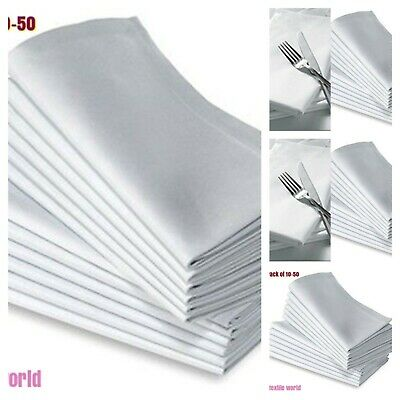 Cotton Napkins white Table Linen Dinner Party Hotel Wedding Cloth-Pack of 10-50