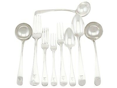 Antique Sterling Silver Canteen of Cutlery