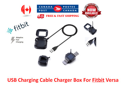 USB Charging Cable Charger Box For Fitbit Versa Smart Watch Wristband Bracelet