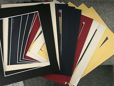 14 Picture Frame Mounts 10 X 8 Inch Overall For 8X6 Photo Assorted Colours
