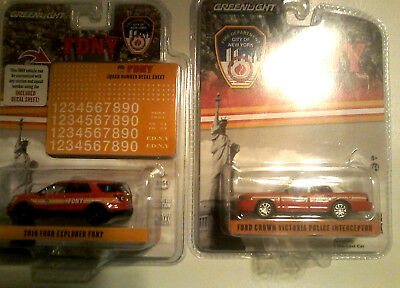2010 Ford Crown Vict/ Police Interceptor/2016 Ford Explorer FDNY 1:64/ 3 Items.