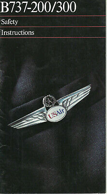 US Air Boeing 737-200/300 safety card