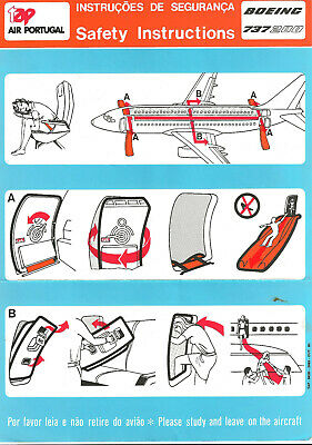 TAP Air Portugal 737-200 safety card