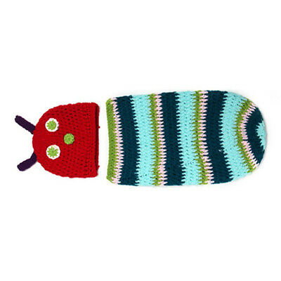 1X(NewBorn Baby Boy Girl Photography Suit Infant Knit Outfit (Caterpillar) O8Q5)
