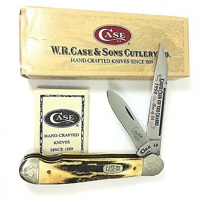 Case XX Easy Open Copperhead Knife Club Ozarks STAG EZ49 SS ENGRAVED 2349-LXQ