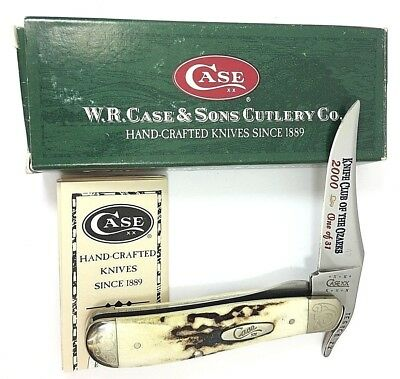 Case XX Russlock Knife Club of the Ozarks STAG V51953L SS ENGRAVED + Box 2347-RL