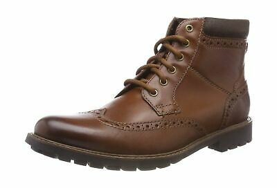 Mens Clarks Casual Brogue Boots /'Curington Rise/'