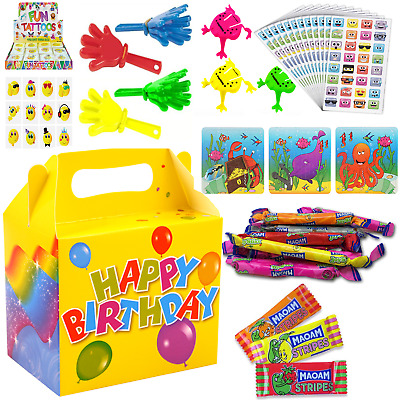 Kids Pre Filled Childrens Boys Girls Party lunch Boxes For Birthday Parties Toys