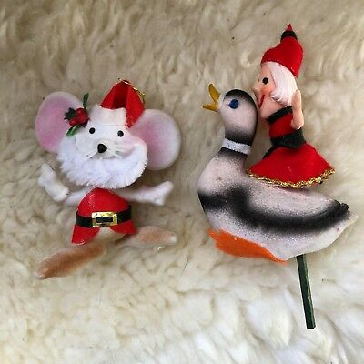 Vintage Ornaments, Lot Of Two, Made In Japan