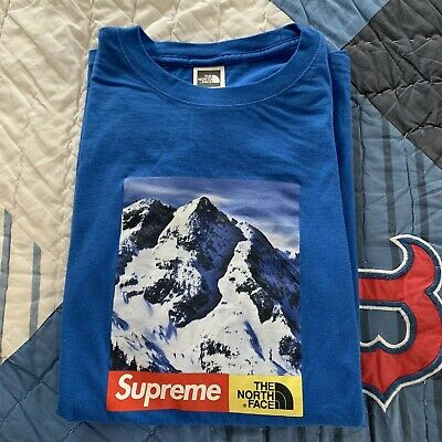 707cf6bf143a Supreme The North Face The mountain Tee MEDIUM Royal Blue 2017 F/W WORN ONCE