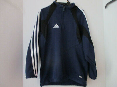 ADIDAS CLIMACOOL~Navy Blue w/ Black & White 1/4 Zip PULL OVER SHIRT~Girls Small