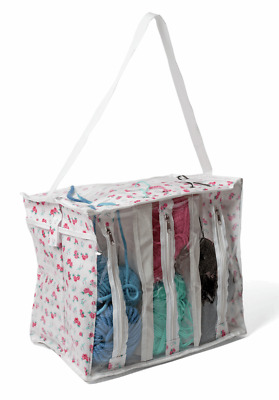**SALE** KNITTING BAG Extra Large knit wool holder zipped pockets DITSY OILCLOTH