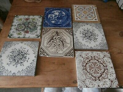 Victorian Tiles, 7  In Various Colours And Patterns