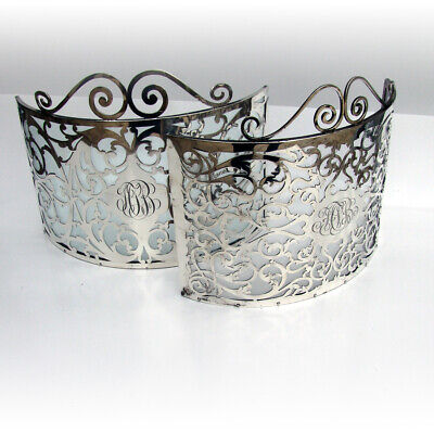 Candle Screens 2 Sterling Silver Black Starr and Frost Marcus and Co 1910