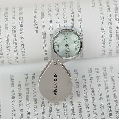 Jeweler Loupe Mini magnifying glass Loupe Magnifier Jewelers Eye Glass RU