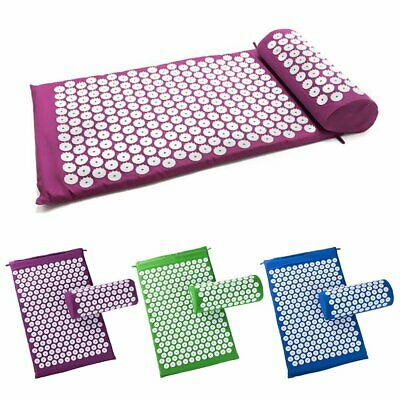 Acupressure Body Massager Mat and Pillow Set for Stress/Pain/Tension Relief RU