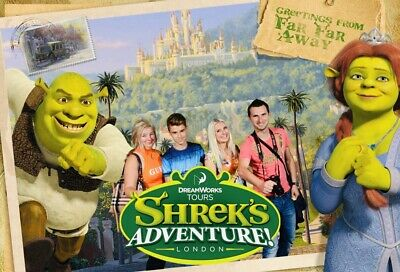 2 Tickets For Shrek's Adventure! London Sunday 1St September Rrp £60