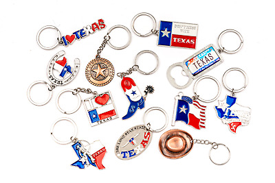 Texas Keychain Set of -12 Pack