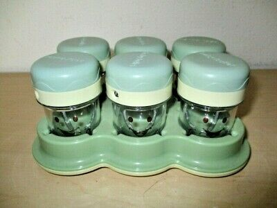 Magic Baby Bullet Blender Storage Cup Containers. 6 Pack W/Tray