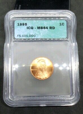 1995 Lincoln Cent Double Die Obverse ICG MS64 RD BU 1995 DDO Red FS 101.1