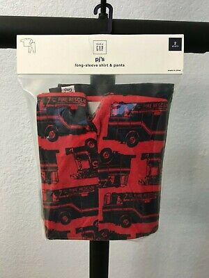 Gap Kids Fire Truck PJ Set  (2 T) BNWT