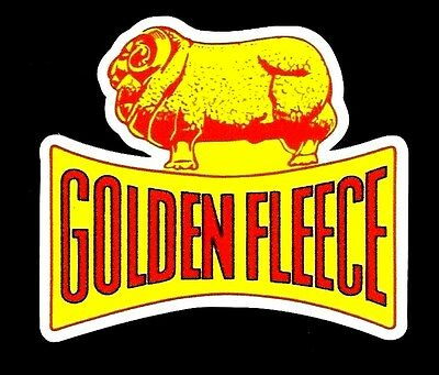 GOLDEN FLEECE Oil  Vinyl Sticker Decal Garage Service GAS Station Petrol !!