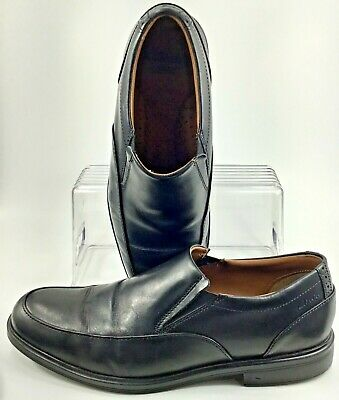 CLARKS Mens Gabson STEP  Dress or Casual SLIP ON Shoes Black Leather 26102900