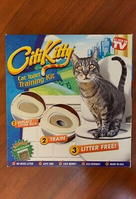 CITIKITTY CAT TOILET SEAT TRAINING SYSTEM - Save Money! Eco-Friendly! Ships Free