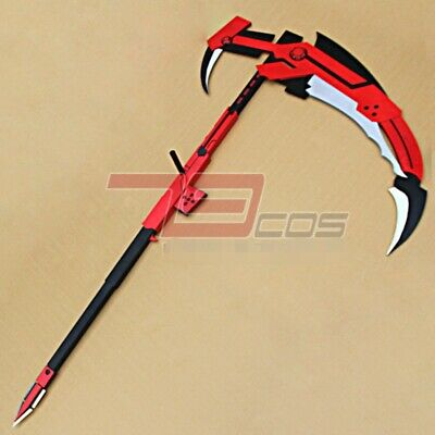"70"" Anime RWBY Ruby Rose Cosplay Sickle Halloween Weapons Crescent Rose Scythe"