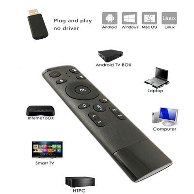 Q5 2.4GHz WIFI Voice Universal TV Remote Control Air Mouse With USB Receivers