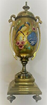 RARE Antique 19C French Porcelain Vase with Bronze Mounts