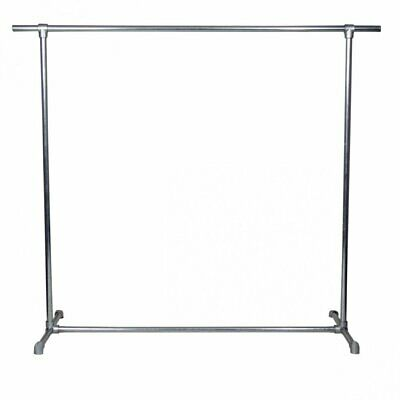 Commercial Grade Heavy Duty Industrial Single Clothes Rack 2 Galvanised