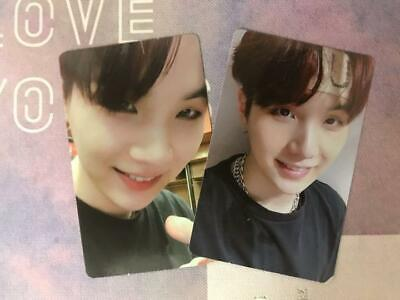 BTS  SUGA Photocard WORLD TOUR  LOVE YOURSELF NEW YORK EUROPE DVD MD FC Set 2