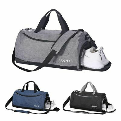 35L Travel Duffle Bag Men's Tote Sport Gym Overnight Luggage w/Shoes Compartment