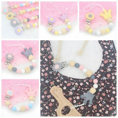 Baby Silicone Pacifier Chain Soother Pacifier Clip Bead Teether Toy for Infant