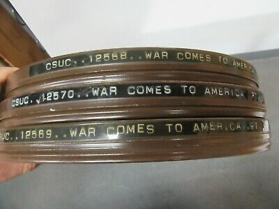 16mm WAR COMES TO AMERICA-b/w Frank Capra, Why We Fight series documentary film.