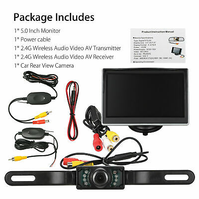 Professional Car Backup Reverse Camera Night Vision Wireless Rear View System