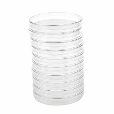 10PCS Sterile Plastic Petri Dishes PLATES Bacterial Yeast 90x15mm V8L6