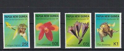 PNG336) Papua New Guinea 1998 Orchids MUH