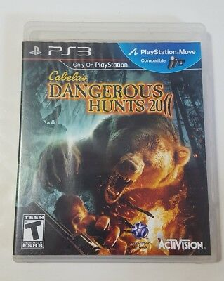 Cabela's DANGEROUS HUNTS 2011 - Playstation 3 PS3 Video Game CIB Complete