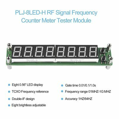 PLJ-8LED-H 8 Digit 0.1~1000MHz RF Signal Frequency Counter Meter Tester LED QU