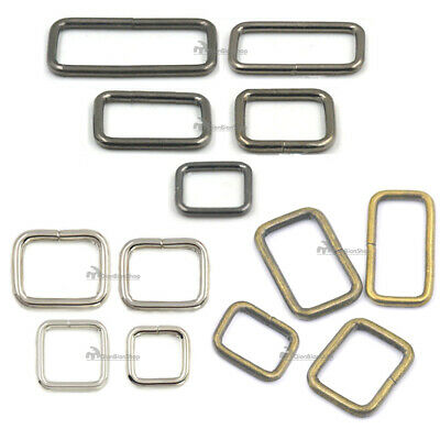 19 25 32 38 50mm Square Dee Rings Buckle For Webbing Belts Bag Strap Backpack SS