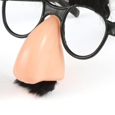 Glasses Mustache Fake Nose Clown Fancy Dress up Costume Props Fun I5