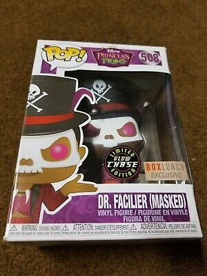 Funko Pop! Dr. Facilier masked Princess and the Frog Disney #508 Chase GITD