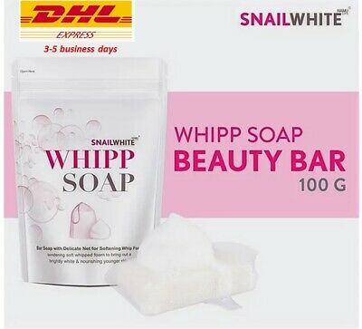 SNAIL WHITE WHIPP SOAP Bar Whip Foam Facial Clean Bright Whitening Youthful Skin