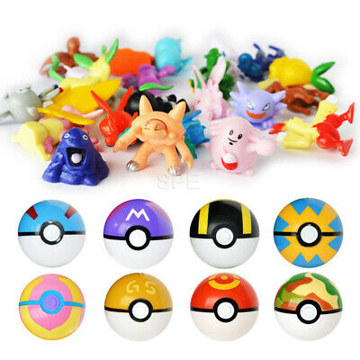 7cm Pokeball Figure Ball Toy Pikachu Pocket Monster Ball Pikachu Figure Kid Toys