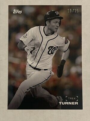 2019 TOPPS ON DEMAND BLACK AND WHITE #25B Trea Turner Background Color #19/25
