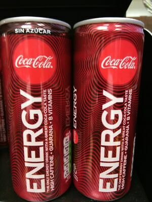 NEW 2018 Coca Cola Energy drink can lata dosen canette 250 ml Spain